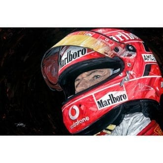 Product image for Michael Schumacher Portrait Giclée Print
