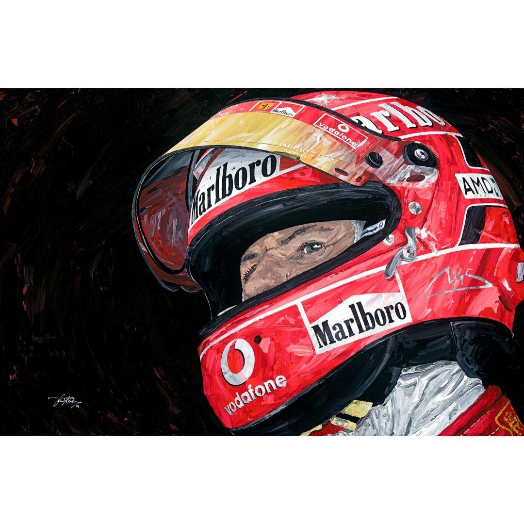 Product image for Michael Schumacher Portrait Giclée Print