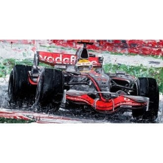 Product image for Lewis Hamilton 2008 British Grand Prix Giclee