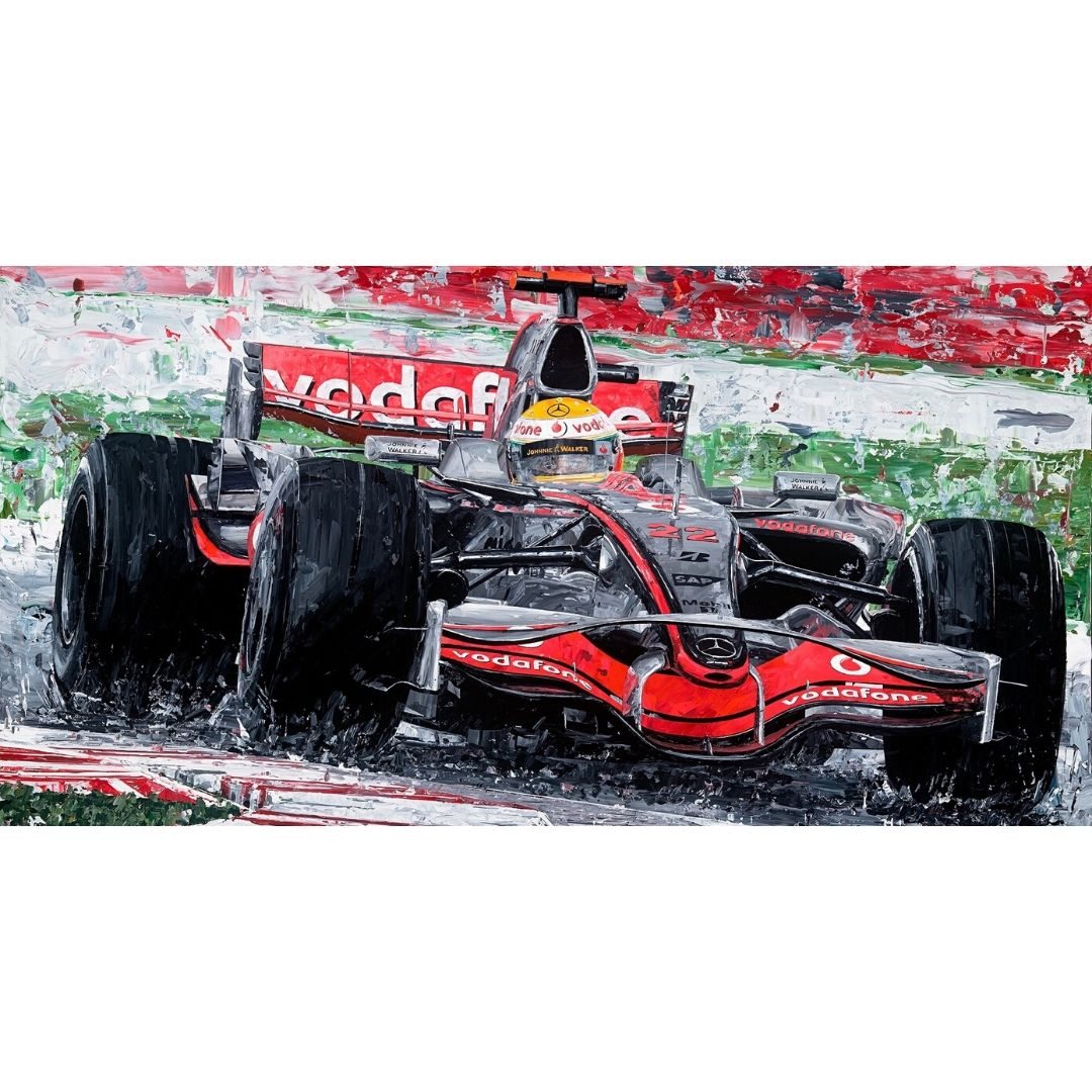 Product image for Lewis Hamilton 2008 British Grand Prix Giclee