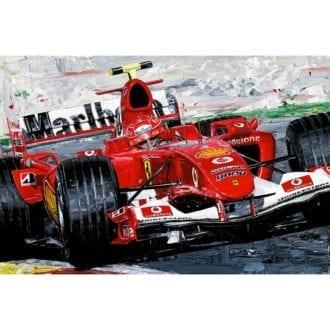 Product image for Michael Schumacher  Ferrari F2004 - F1 World Champions Giclée Print