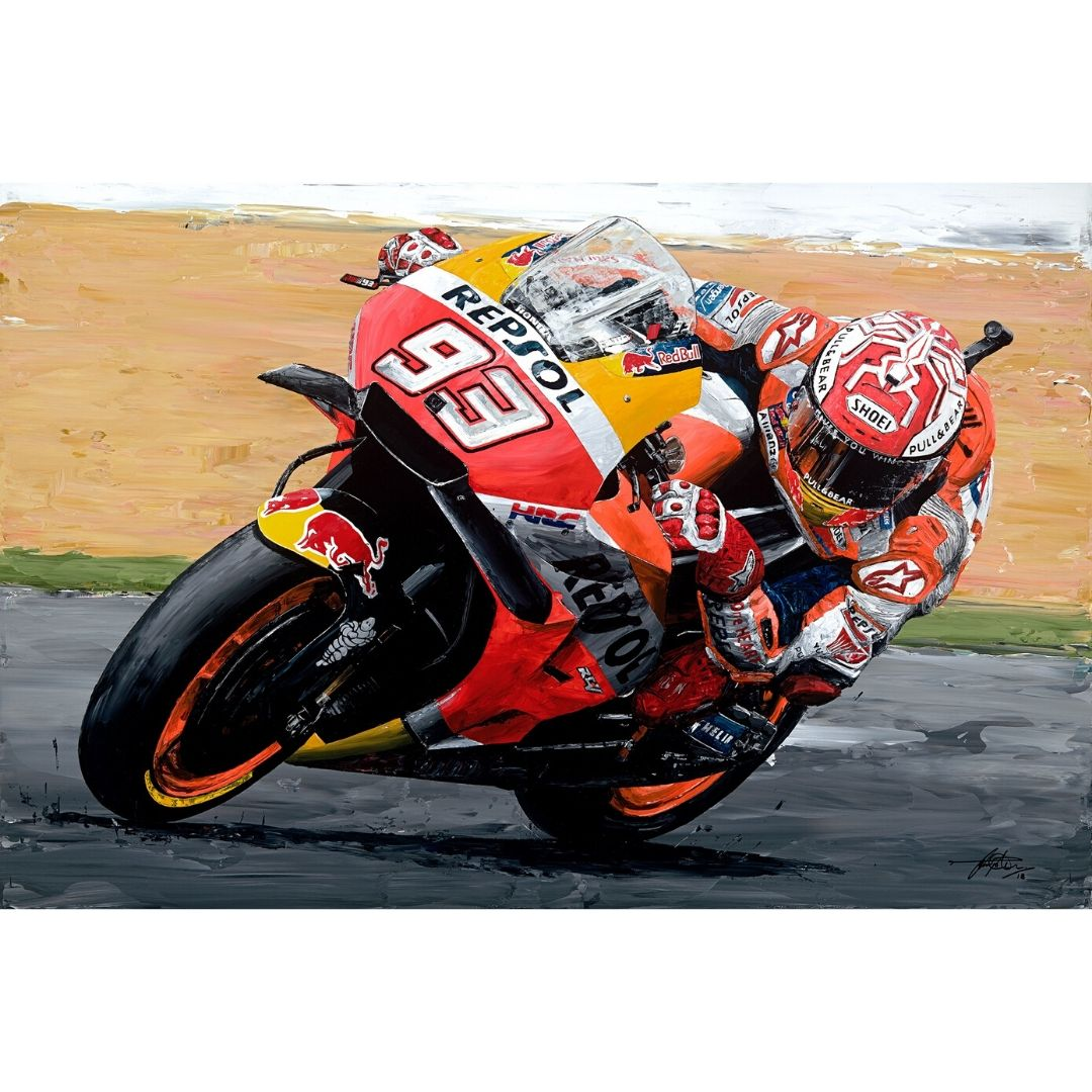 Product image for Marc Marquez  2018 Moto GP World Champion Giclée Print