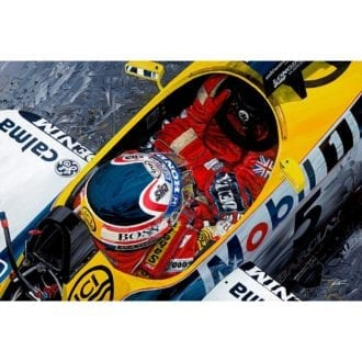 Product image for Nigel Mansell, Williams FW11 - 1987 British Grand Prix Giclée Print
