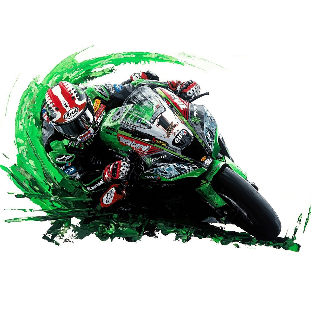 Product image for Jonathan Rea  4-Time World Superbike Champion Giclée Print