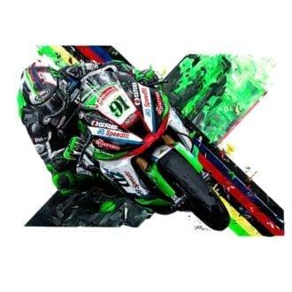 Product image for Leon Haslam  2018 British Superbike Champion Giclée Print
