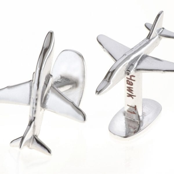 Silver Cufflinks made from a Red Arrow plane