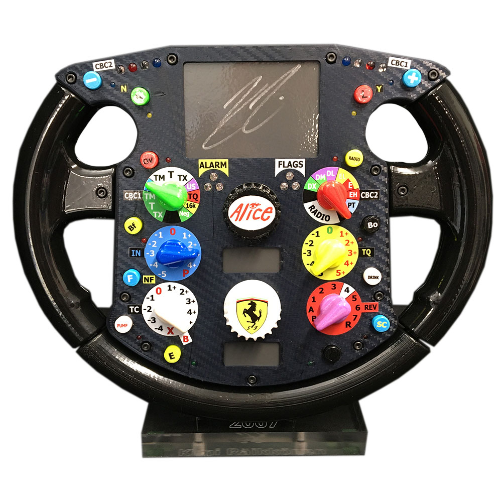 Product image for Ferrari F2007, full-size replica, Steering Wheel, signed Kimi Räikkönen