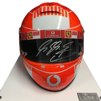 Product image for Full-size Ferrari helmet, signed Michael Schumacher