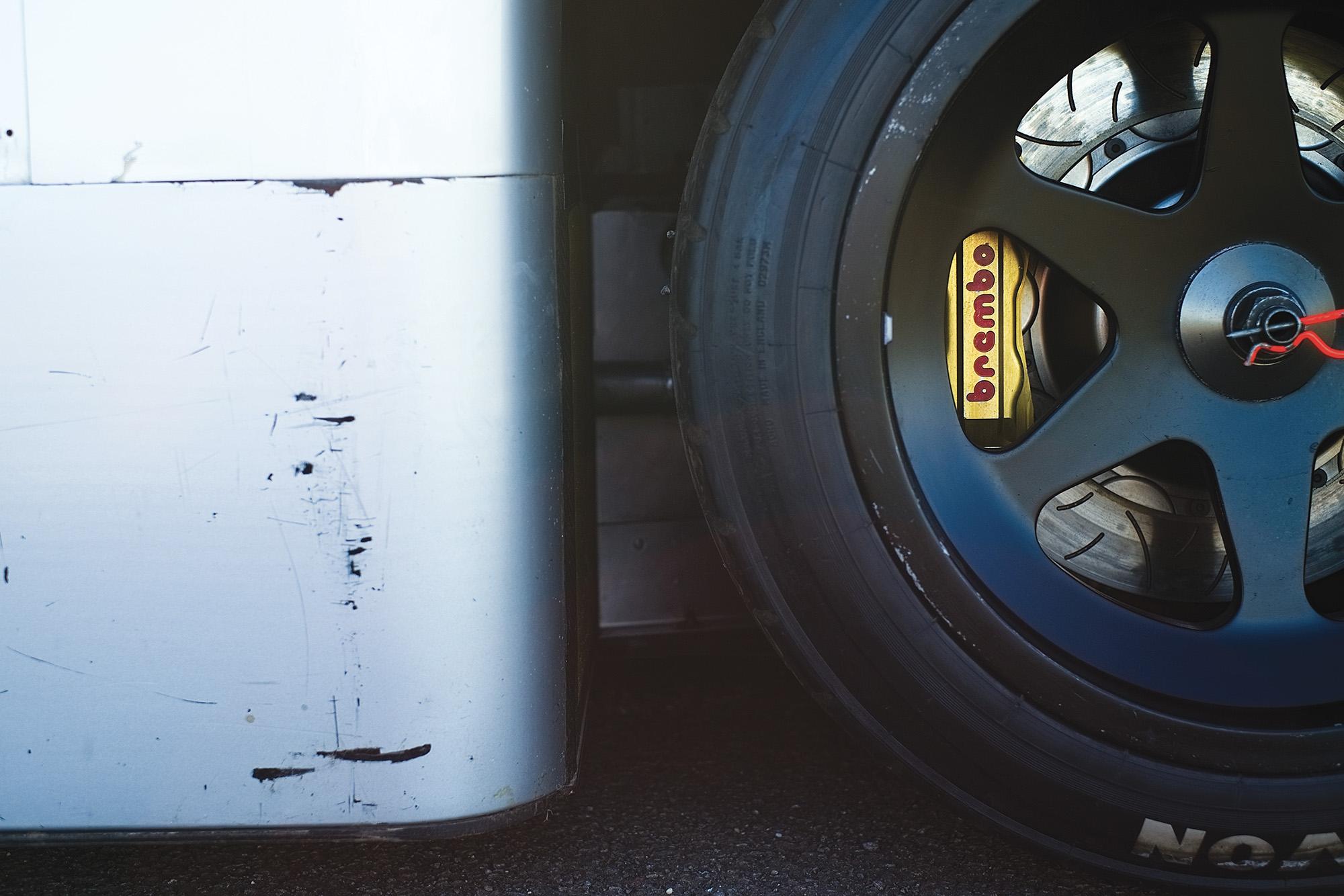 Sauber C9 wheel close up