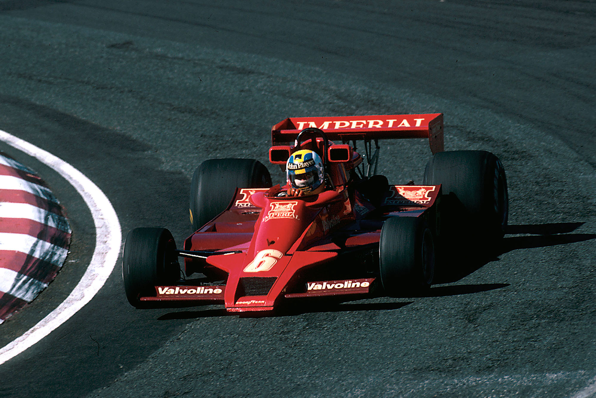 Gunnar Nilsson driving for Lotus at the 1978 Japanese Grand Prix.