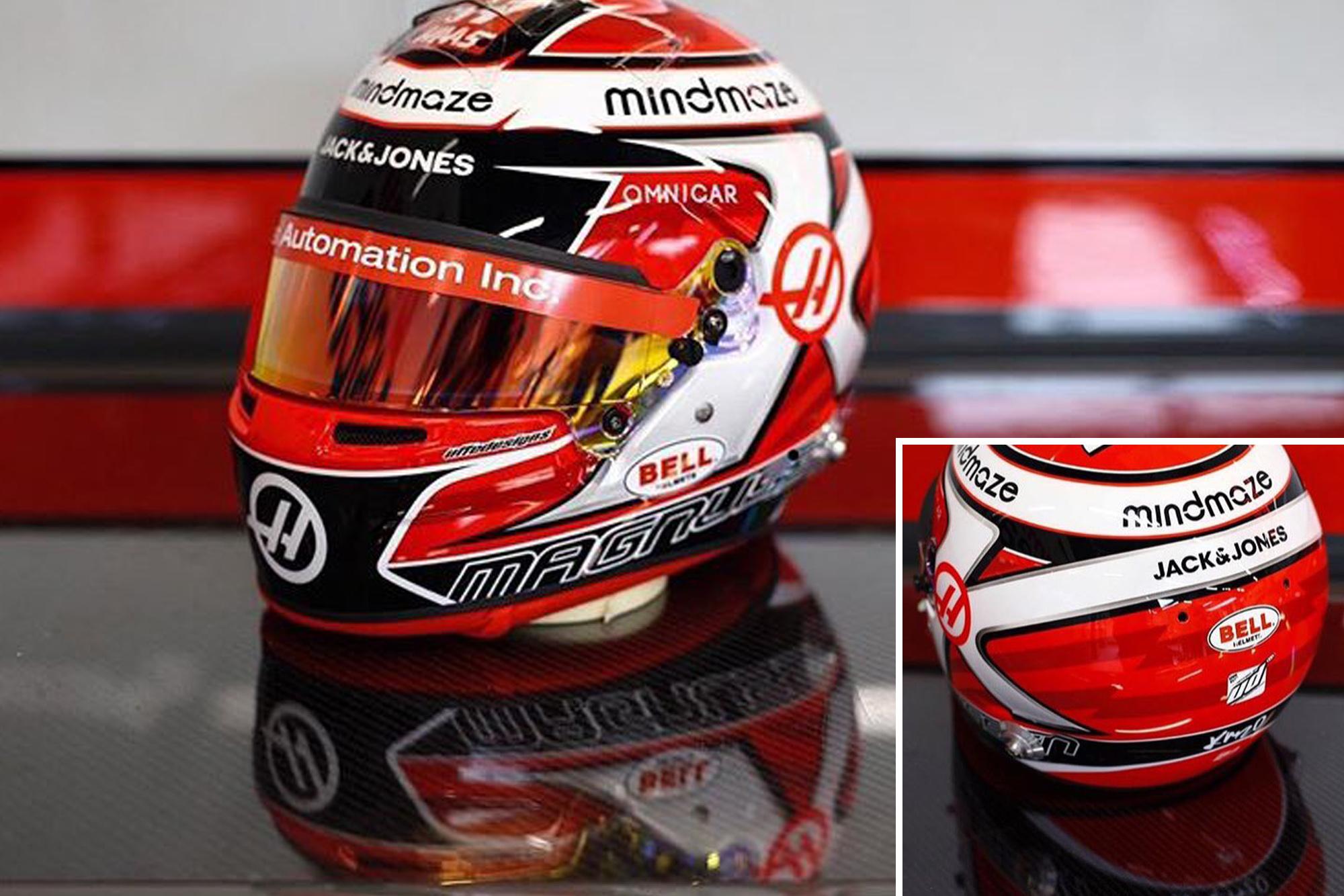 Kevin Magnussen helmet