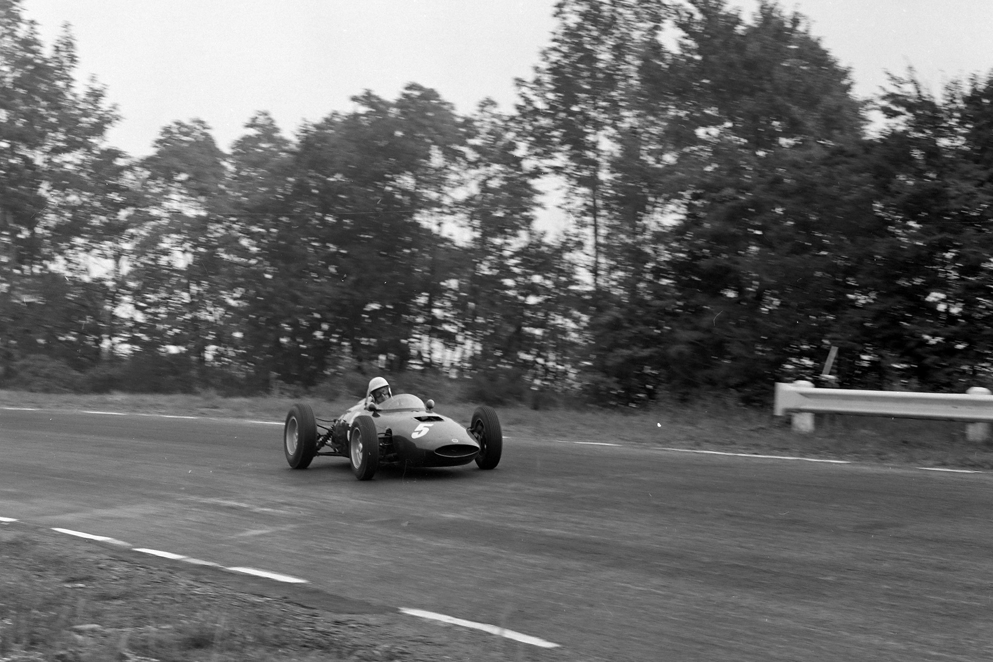 Tony Brooks in his final world championship grand prix at Watkins Glen in 1961