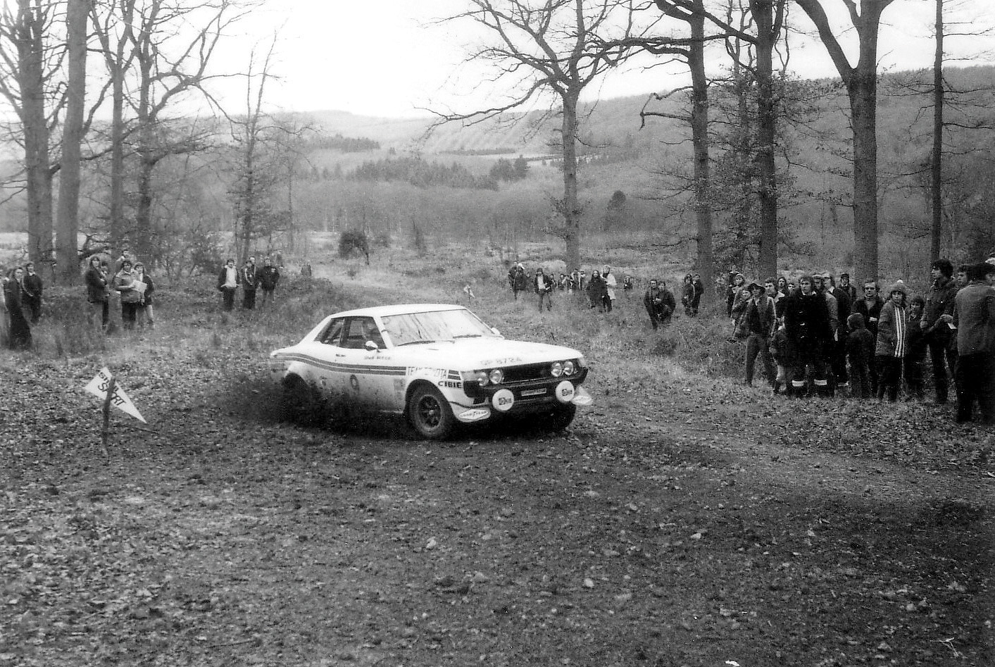 Toyota Celica on Forest of Dean Rally