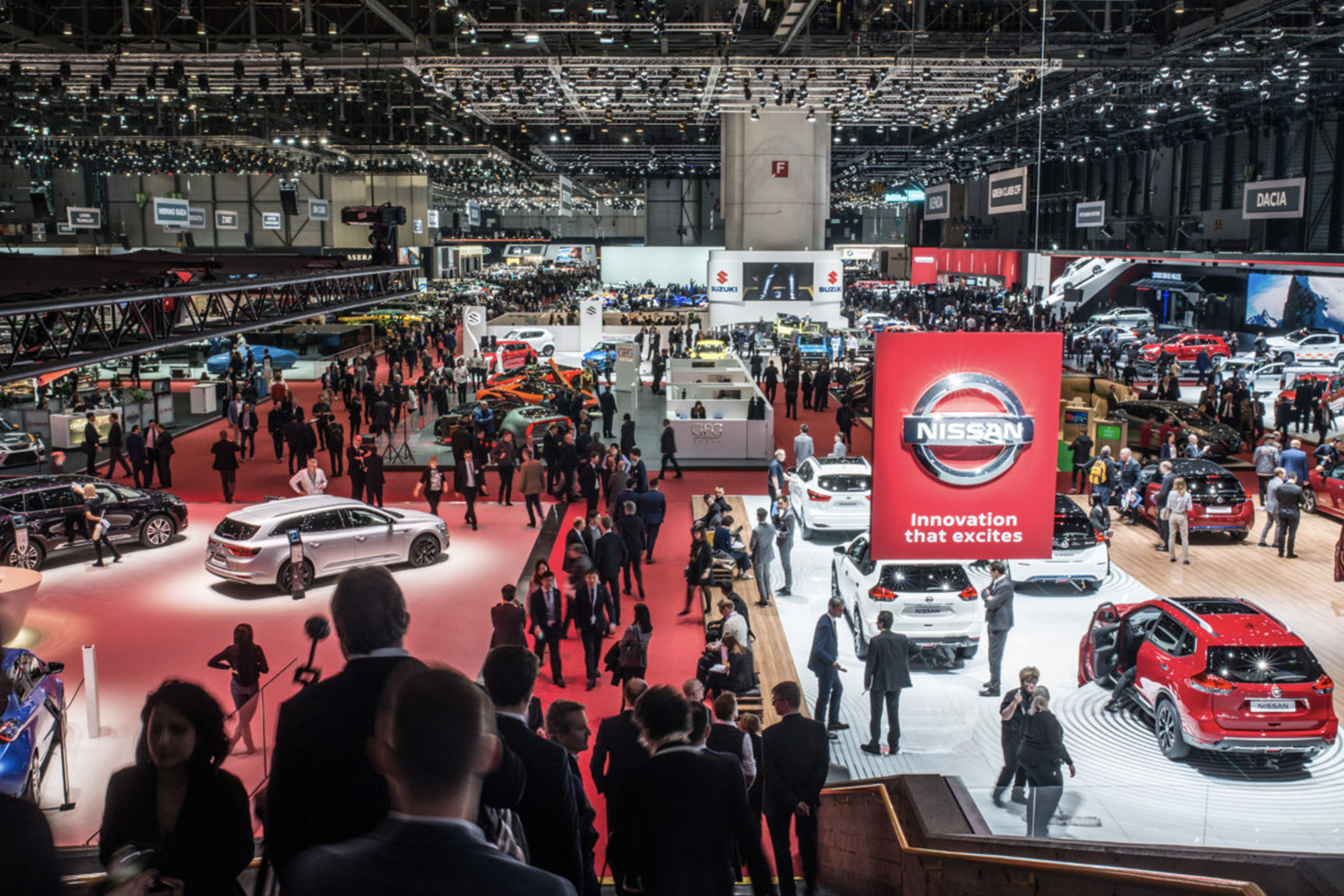 Crowds at the 2019 Geneva Motor Show