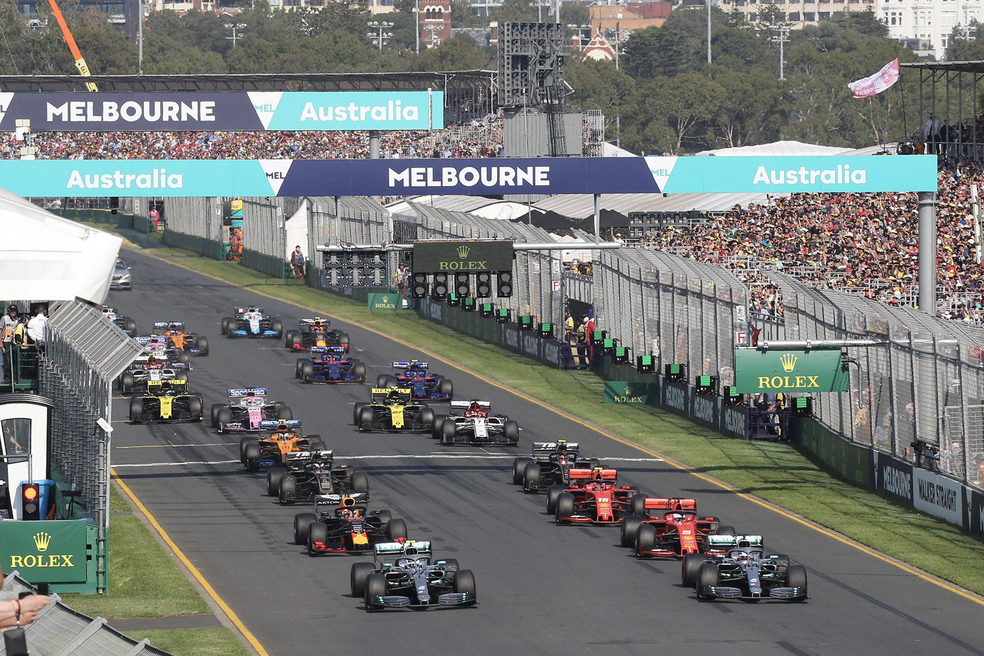 Australian GP start Melbourne 2019