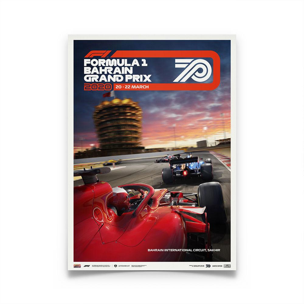 Product image for Formula 1 Bahrain Grand Prix 2020 | Poster