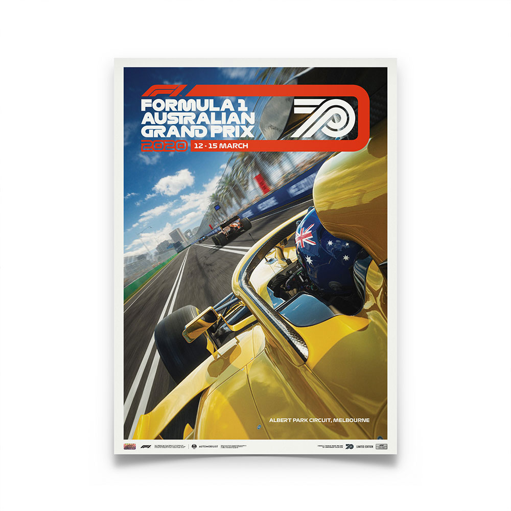 Product image for Formula 1 Australian Grand Prix 2020 | Poster