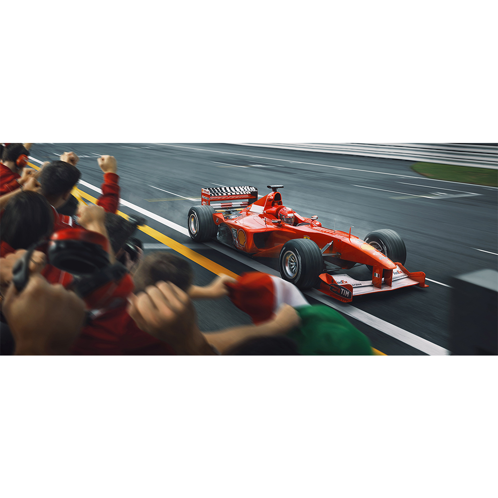 Product image for Crossing The Line, Raising The Bar | Michael Schumacher | Artwork