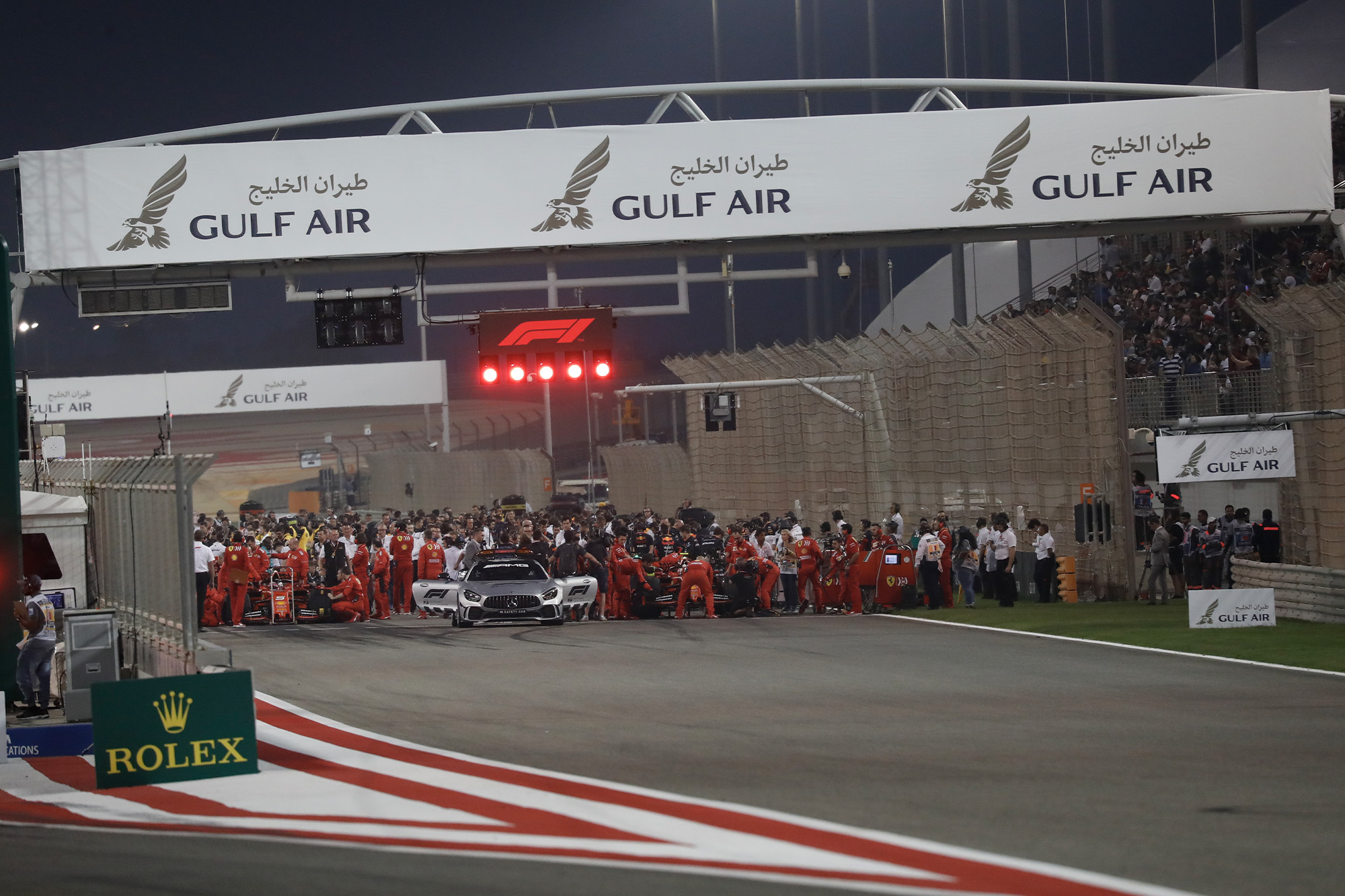 The start of the 2020 Bahrain Grand Prix