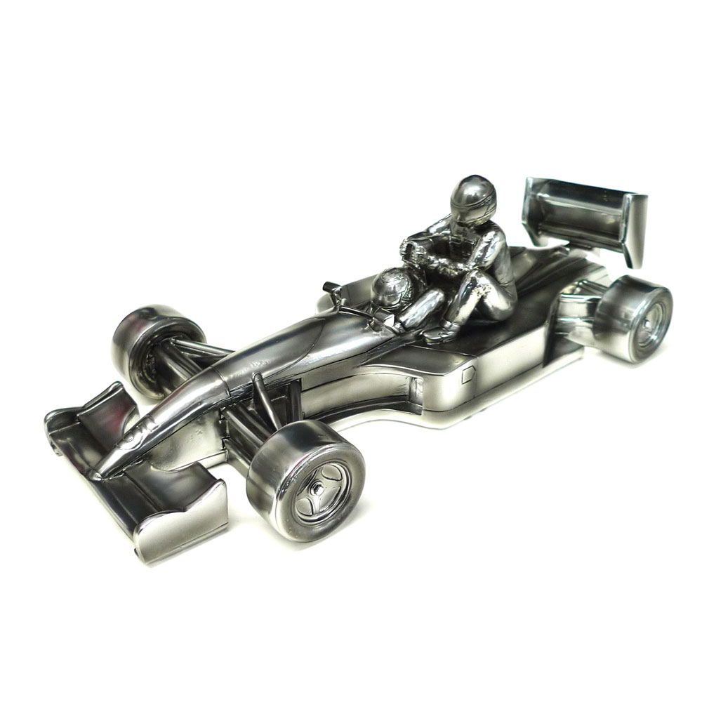 Product image for Chrome Sculpture, Williams FW14 'Taxi for Senna' signed Nigel Mansell