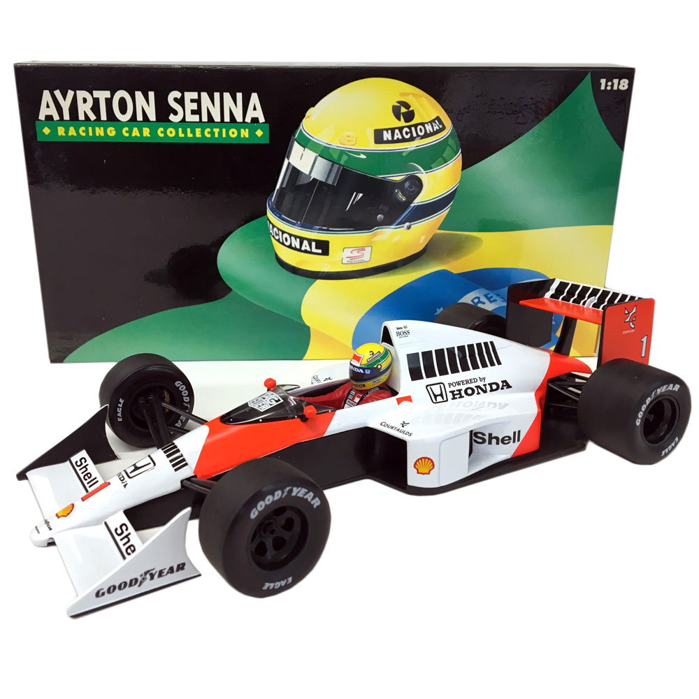 Product image for Ayrton Senna, McLaren MP4/5, 1:18 Minichamps