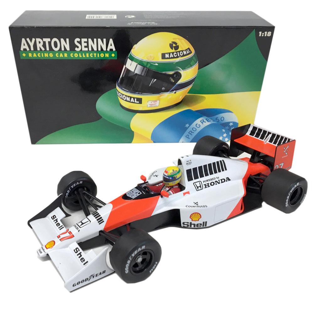 Product image for Ayrton Senna, McLaren MP4/5B, 1:18 Minichamps