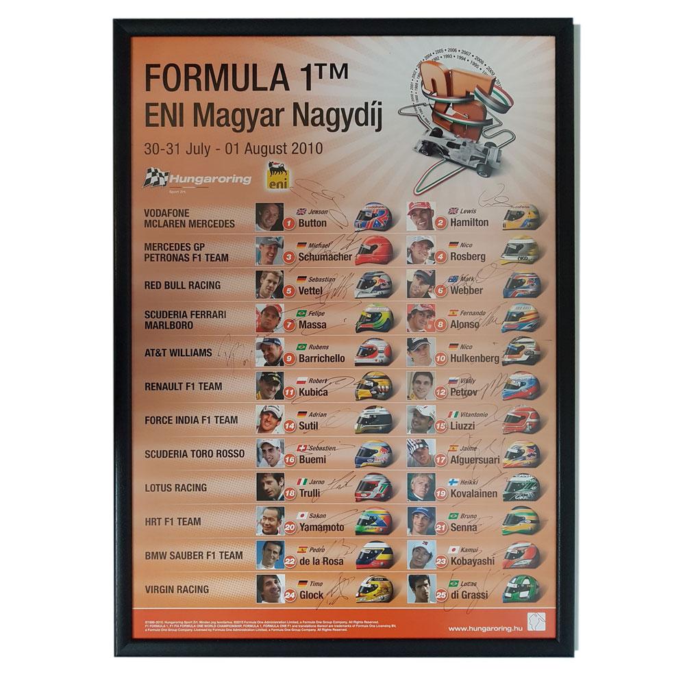 Product image for Formula 1 ENI Magyar Nagydij 2010 | Signed Poster