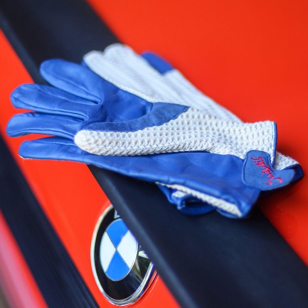 Product image for Suixtil Grand Prix Blue Driving Gloves