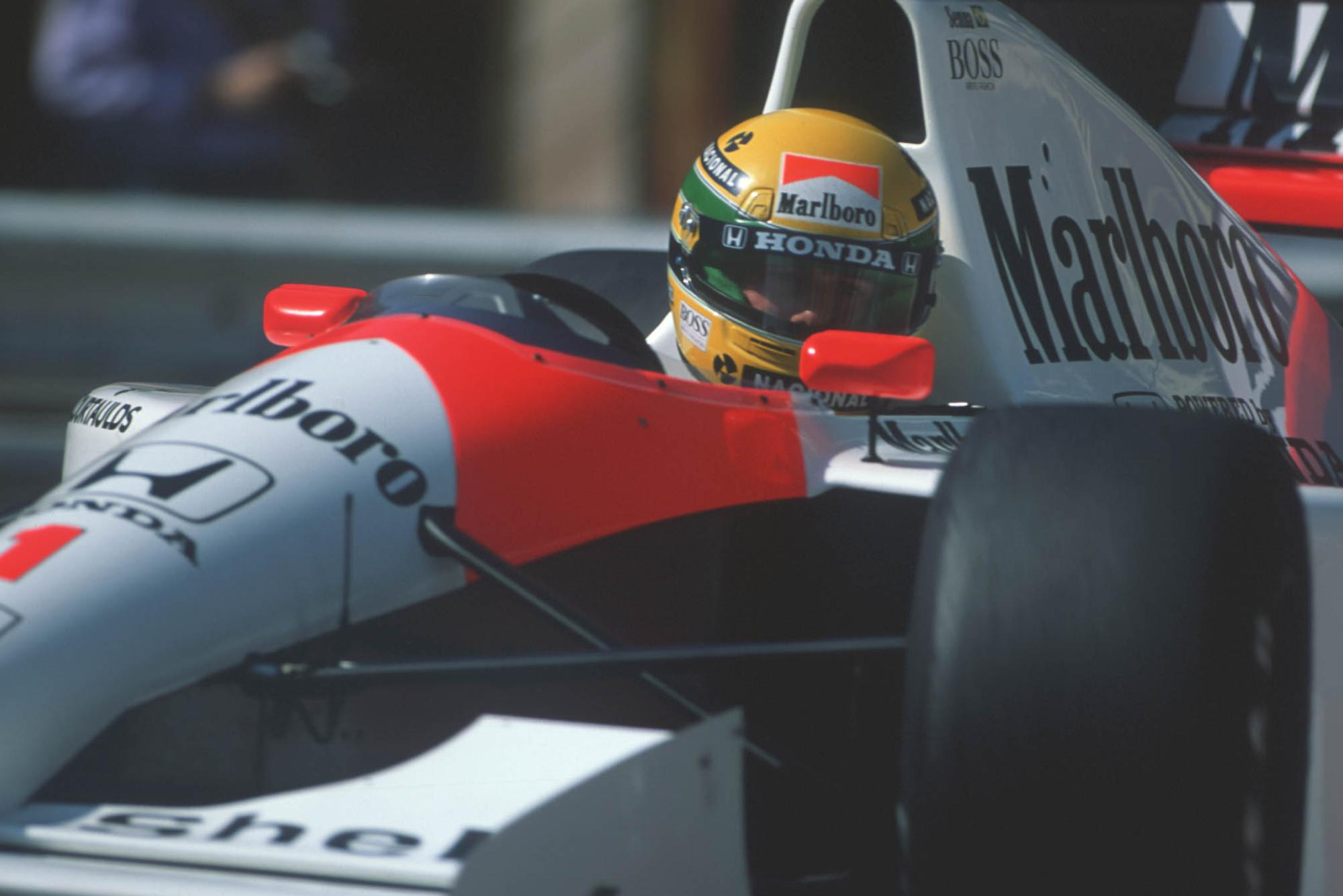 Ayrton Senna in the McLaren