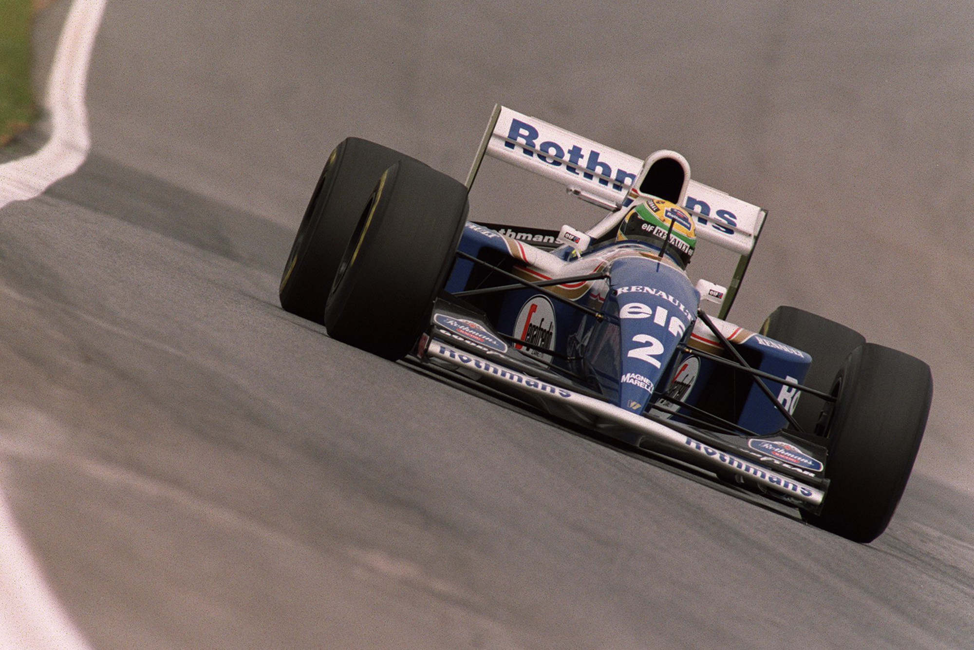 Ayrton Senna in a Williams renault at the 1994 Brazilian Grand Prix