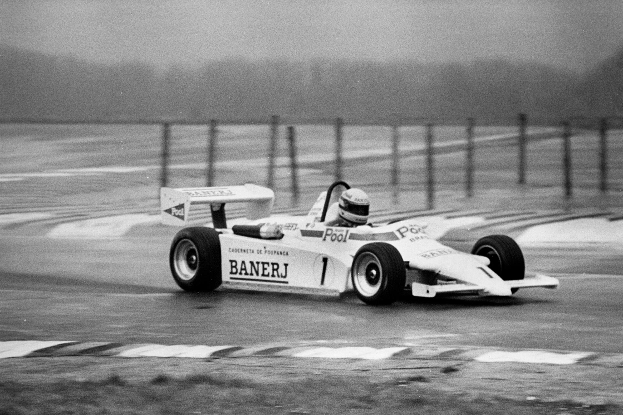 2. Ayrton Senna racing his Ralt RT3 at Thruxton in the 1983 Formula 3 Championship