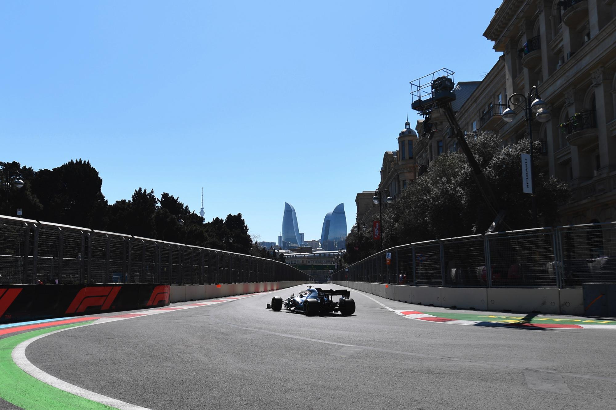 Lewis Hamilton during the 2019 Azerbaijan Grand Prix