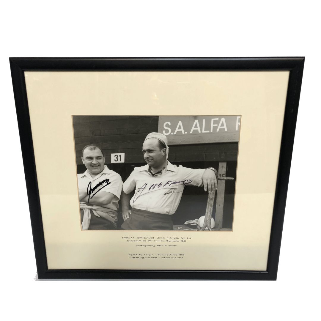 Product image for Froilan Gonzalez & Juan Manuel Fangio | Swiss Grand Prix | Signed Photograph