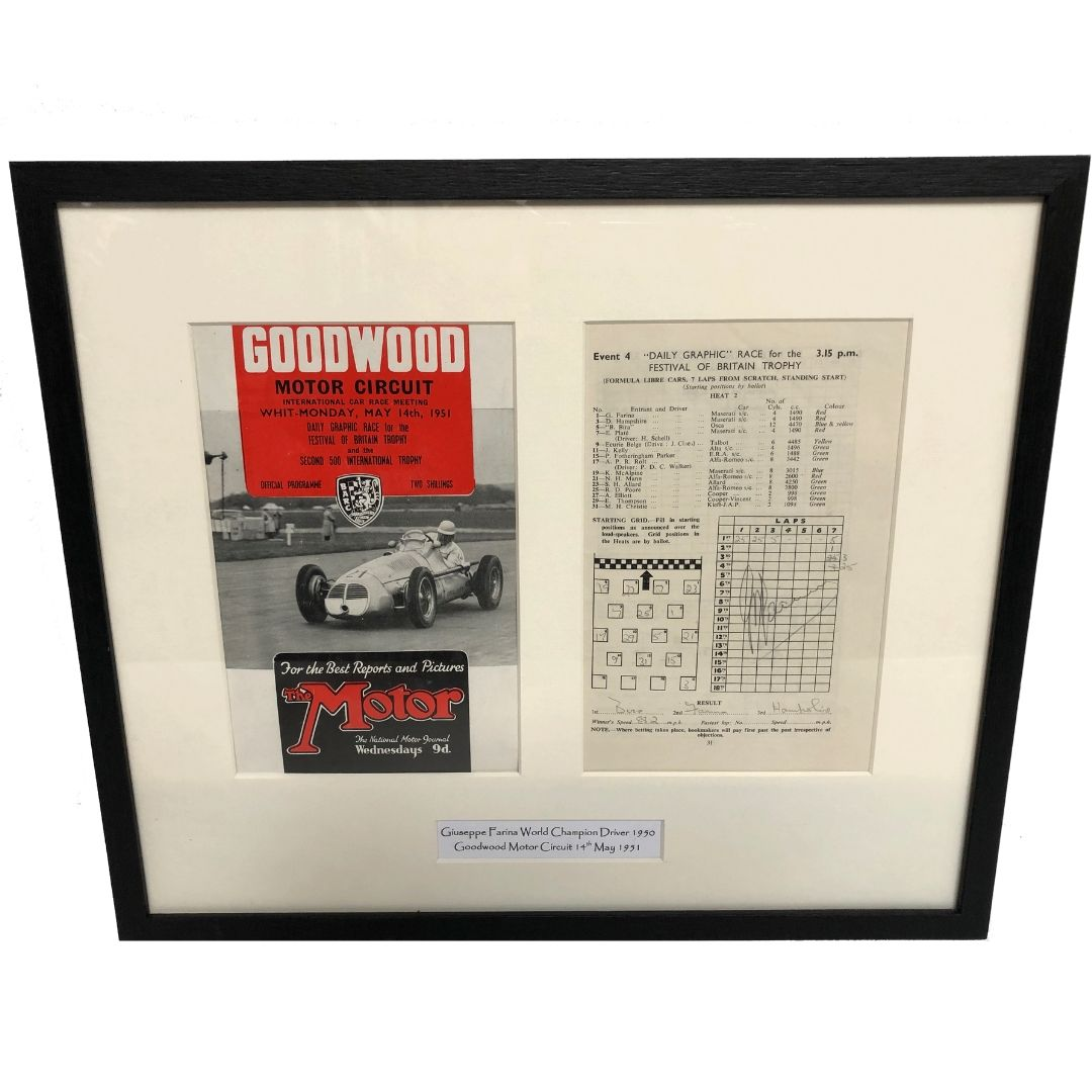 Product image for Giuseppe Farina Signed Goodwood Programme