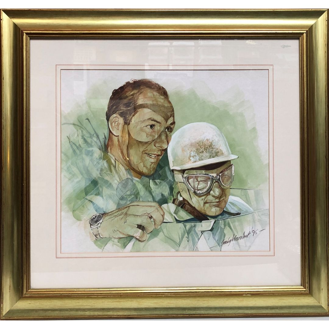 Product image for Stirling Moss Original Water Colour by Craig Warwick