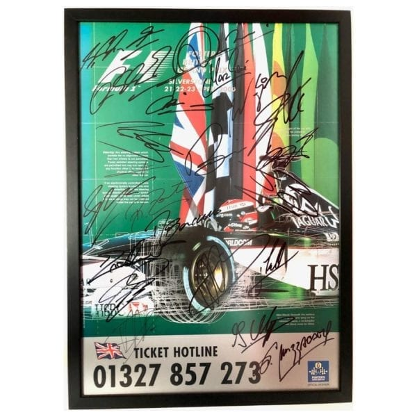 F1 poster signed by 22 drivers - Formula 1 | Fosters British Grand Prix 21-23 April 2000 |