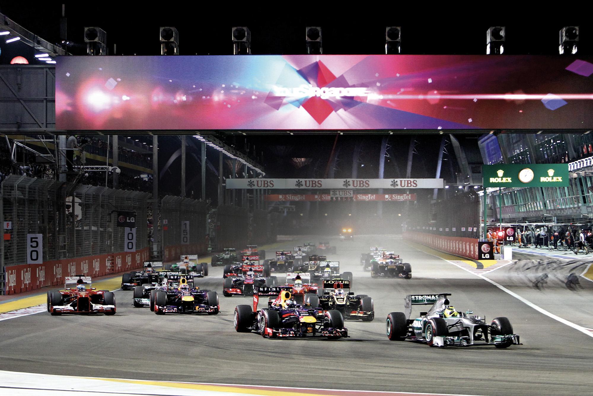 Singapore Grand Prix start