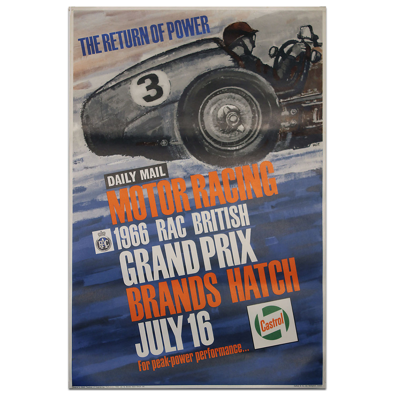 Product image for British Grand Prix 1966 Brands Hatch Poster