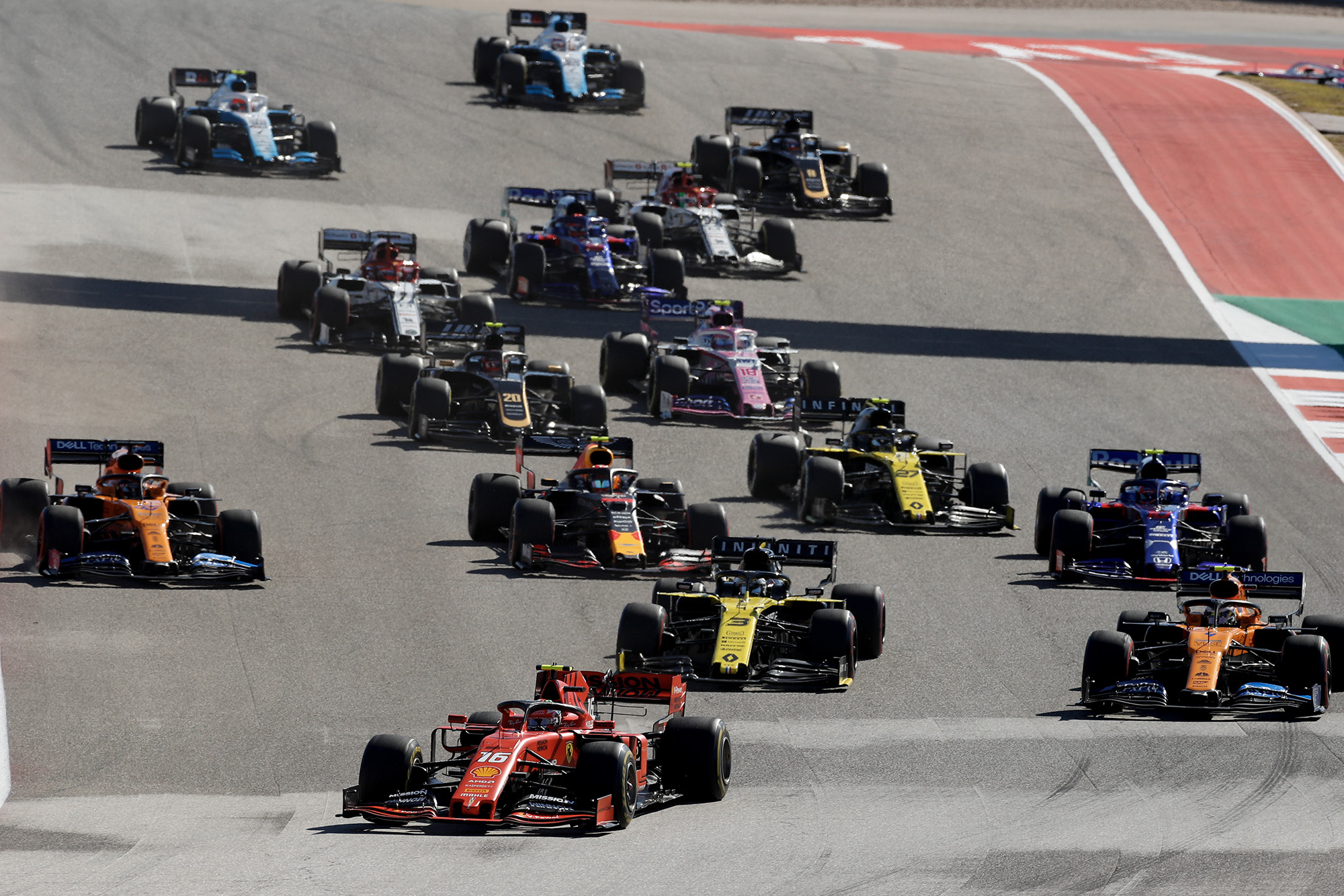 Start of the 2019 US Grand Prix