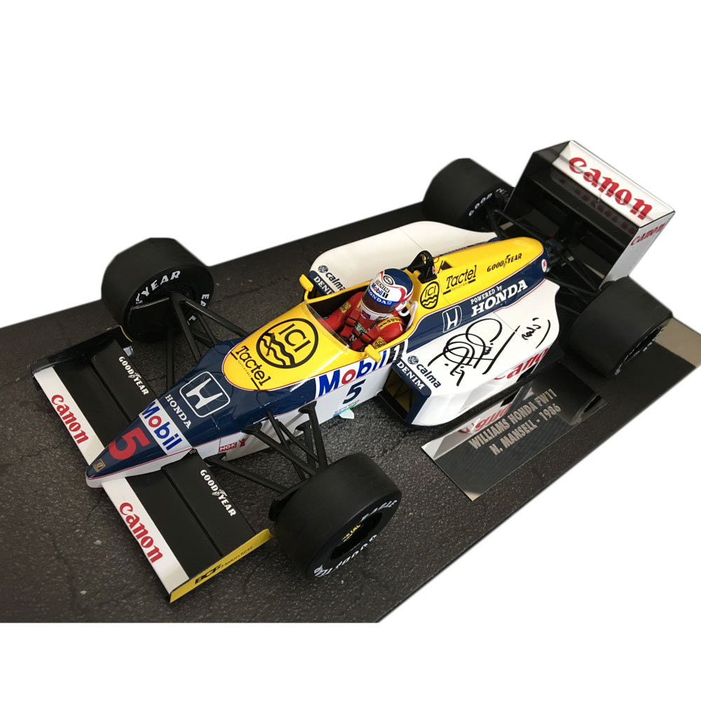 Product image for Williams FW11 | 1:18 Minichams | signed by Nigel Mansell
