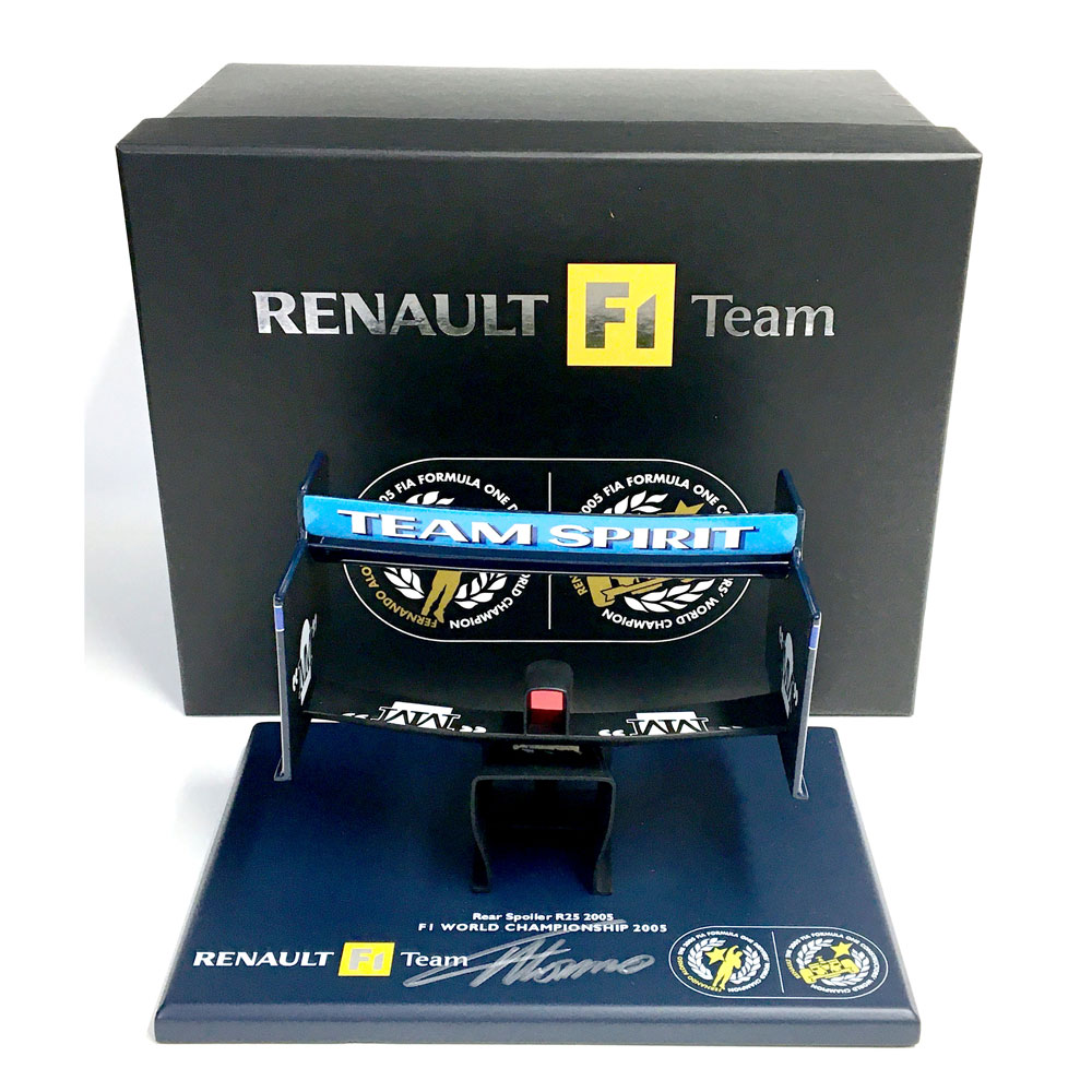 Product image for Fernando Alonso signed Renault R25 1:6 rear wing