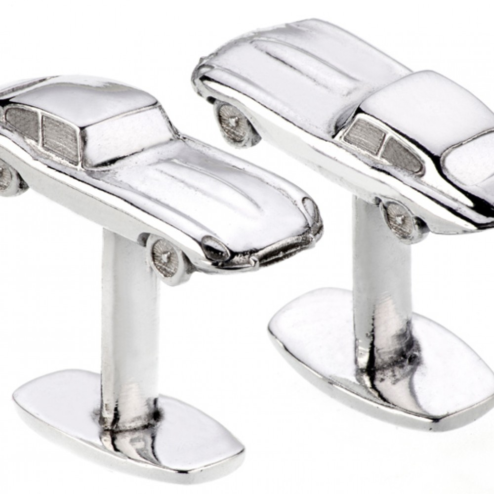 Product image for Genuine upcycled Jaguar E-Type cufflinks