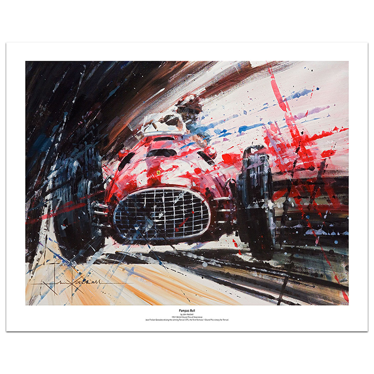 Product image for Pampas Bull | Ferrari's first ever F1 victory | Art Print