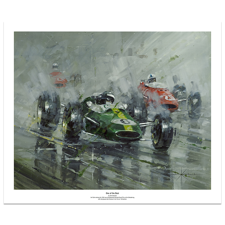 Product image for One of the Best | Jim Clark's winning Lotus | Art Print