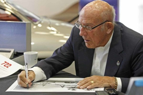 Sir Stirling Moss signing