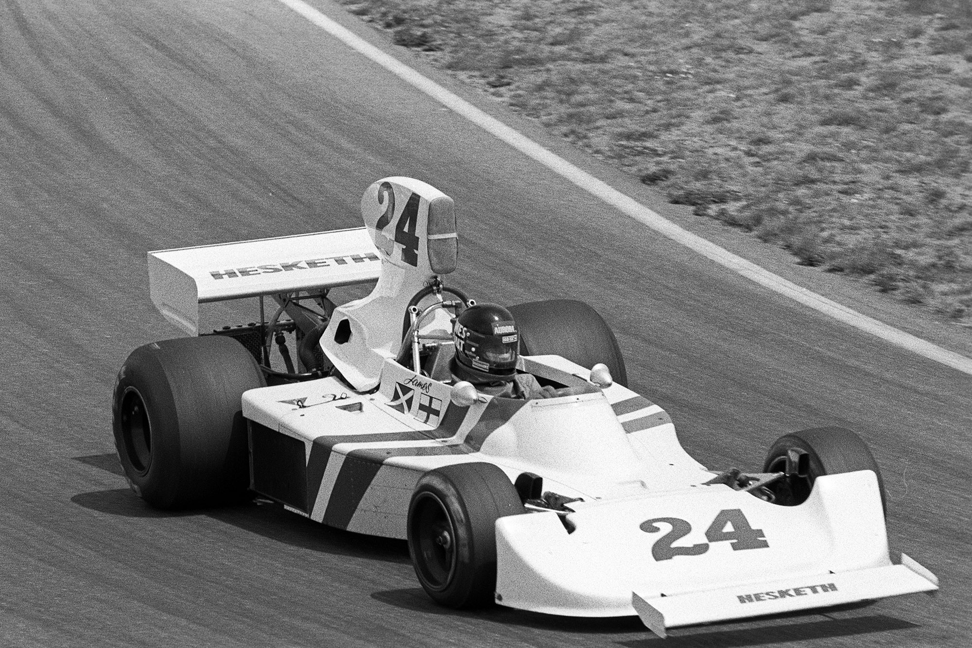 James Hunt at the 1975 Dutch Grand Prix