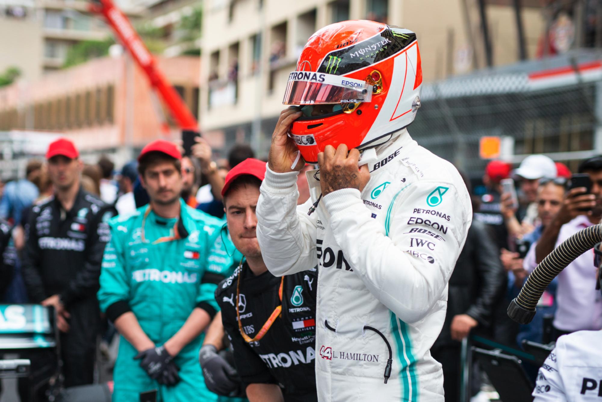Lewis Hamilton at the 2019 Monaco Grand Prix