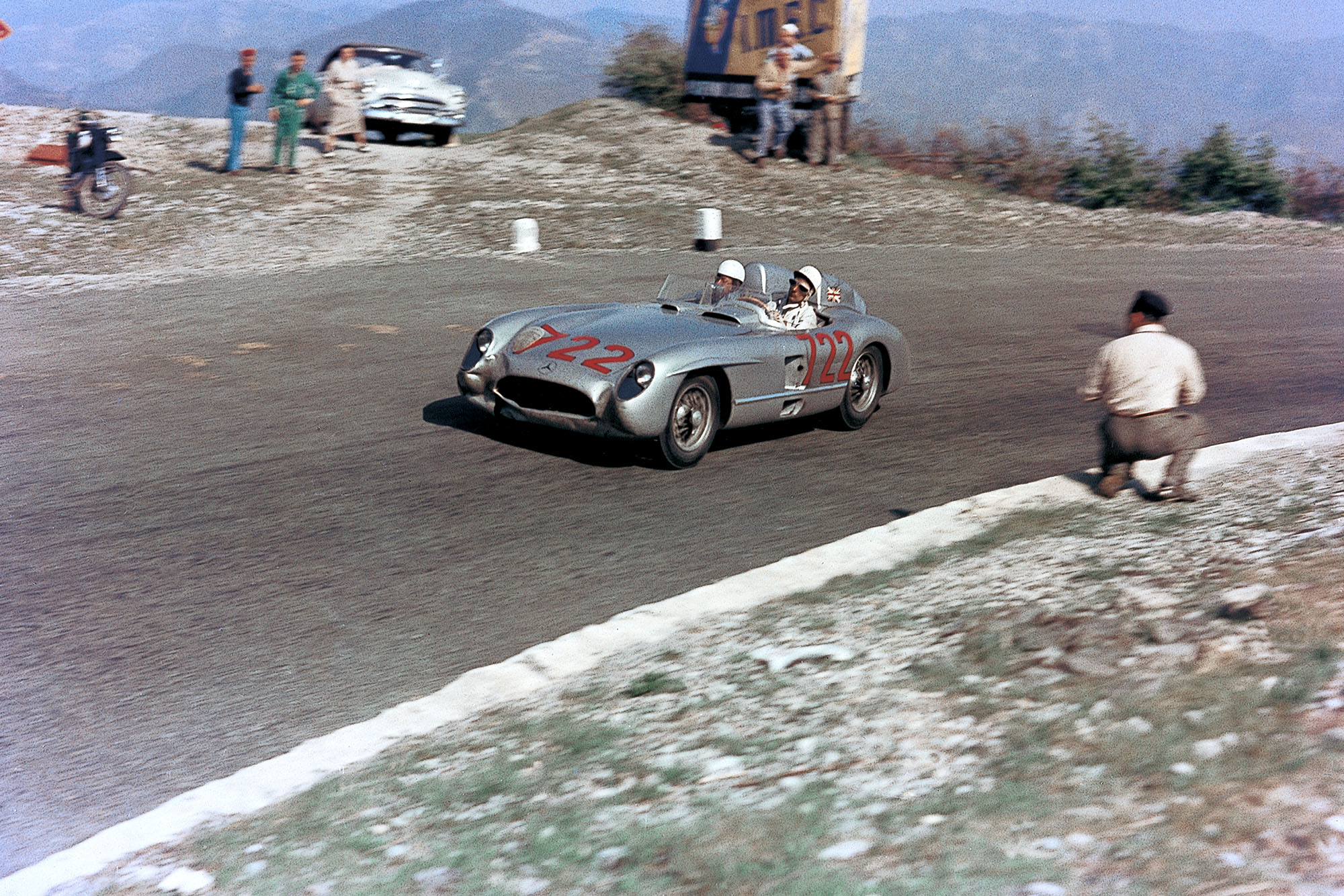 Stirling Moss in the 1955 Mille Miglia