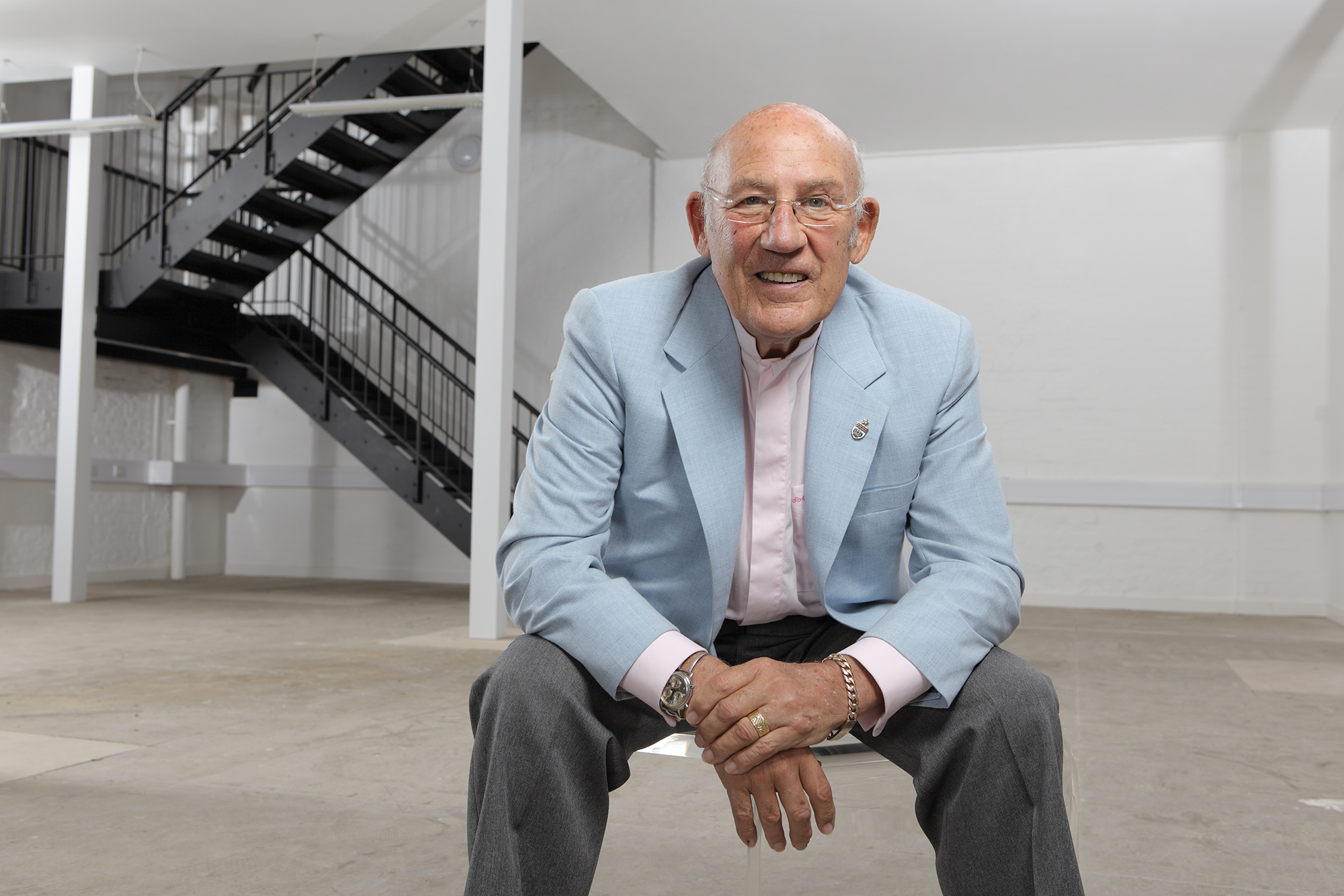 Stirling Moss at the Motor Sport offices in 2009