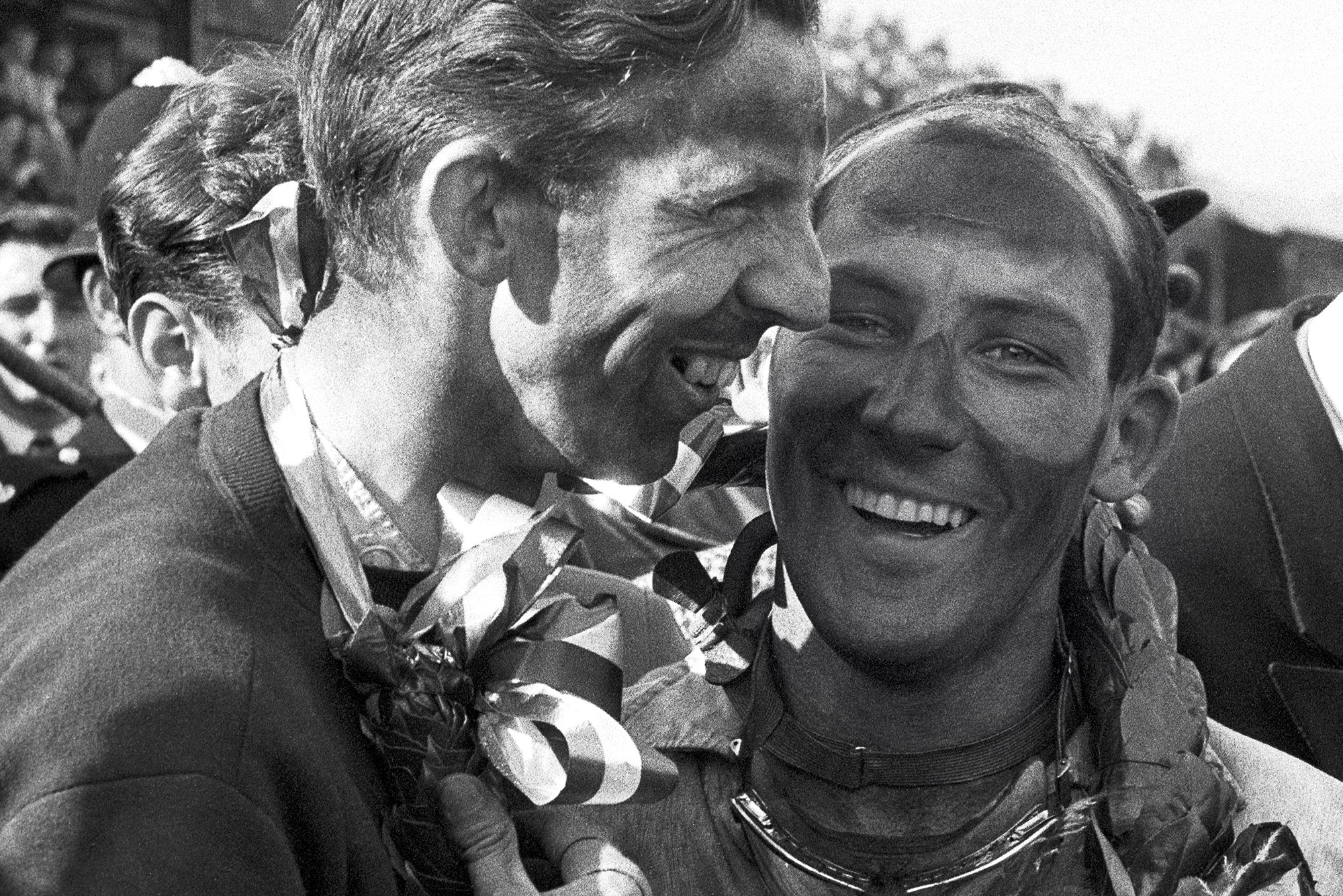 Stirling Moss with Tony Brooks